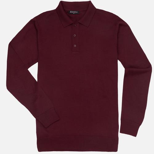 Sweter Polo Bordo