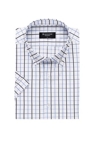 Koszula Krótki Rękaw Krata Black Blue