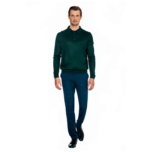 Sweter Polo Bottle Green