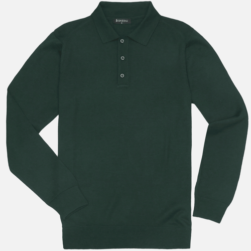 Sweter Polo Bottle Green